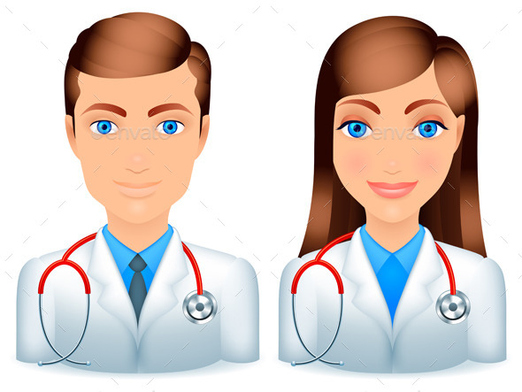 GraphicRiver Male and Female Doctors 9144129