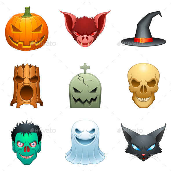 GraphicRiver Halloween Characters 9144132