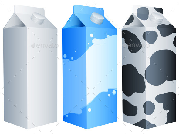 GraphicRiver Milk Packs 9144136