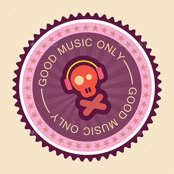 GraphicRiver Music Round Label 9144141