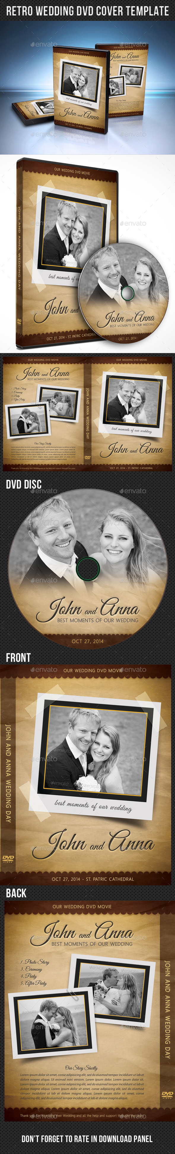 GraphicRiver Retro Wedding DVD Cover Template 03 9144150