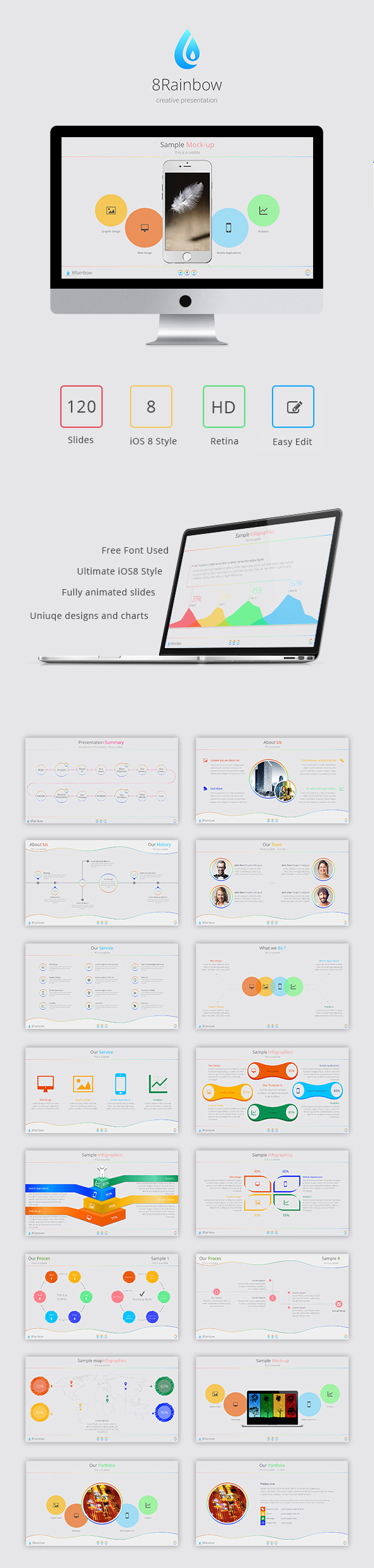 GraphicRiver 8Rainbow Keynote Template 9144160