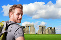 Young man travel in stonehenge - PhotoDune Item for Sale