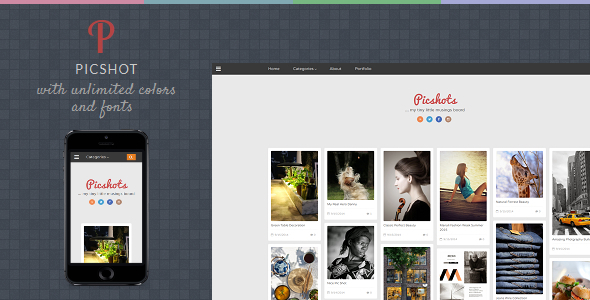 ThemeForest PicShots Responsive Blogger Template 9079369