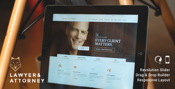 Lawyers Attorneys Legal Office Responsive Theme The theme is built for Legal Advisers, Legal offices, Lawyers, Attorneys, Barristers at Law, Counsels, Solicitor