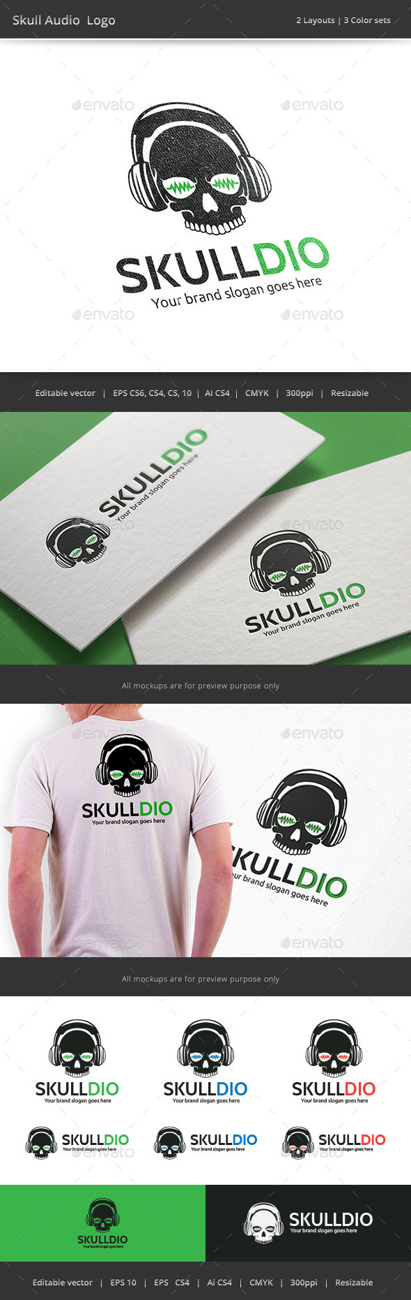 GraphicRiver Skull Audio Logo 9144570