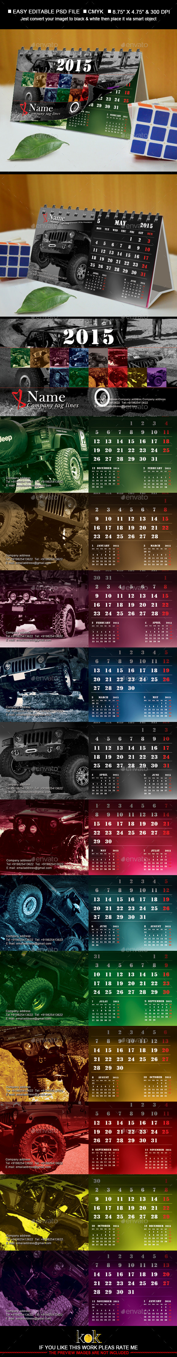 GraphicRiver 2015 Desktop Calendar 9113544