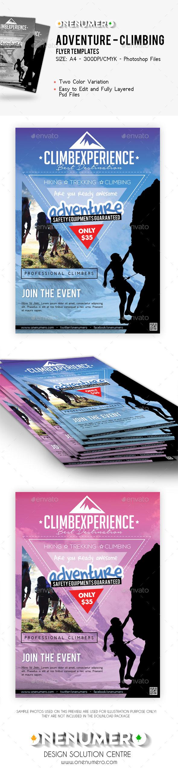 GraphicRiver Adventure Climbing Flyer Template 9145032