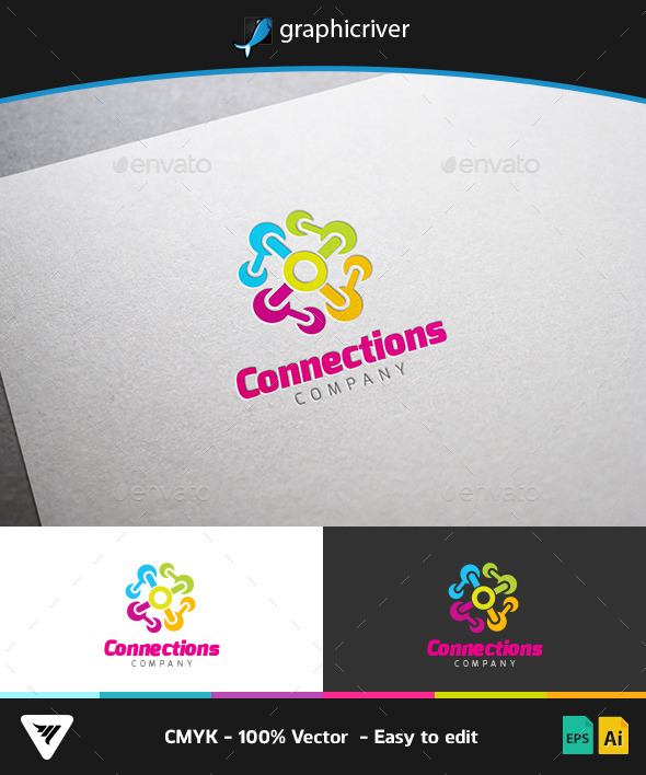 GraphicRiver Connections Logo 9145199
