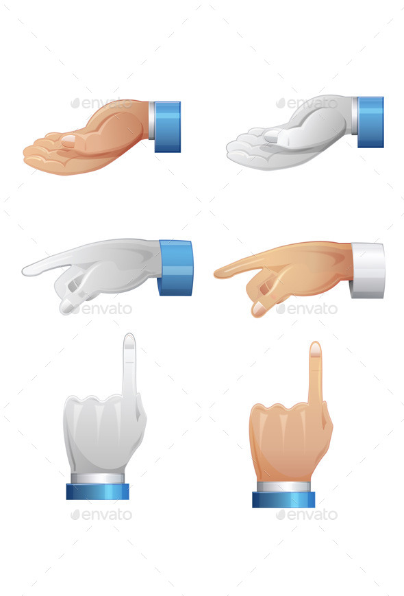 GraphicRiver Hand Position Illustration 9145433
