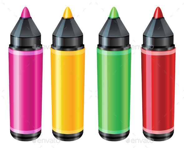 GraphicRiver Felt Tip Pen Illustration 9145447