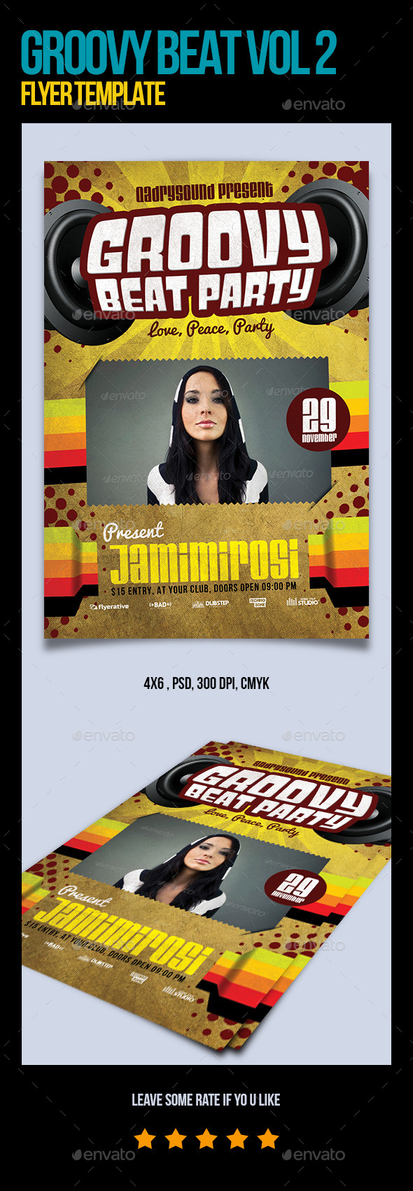 Groovy Beat Vol 2 Flyer Template