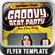 Groovy Beat Vol 2 Flyer Template - GraphicRiver Item for Sale