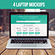 4 Laptop Mockup - GraphicRiver Item for Sale