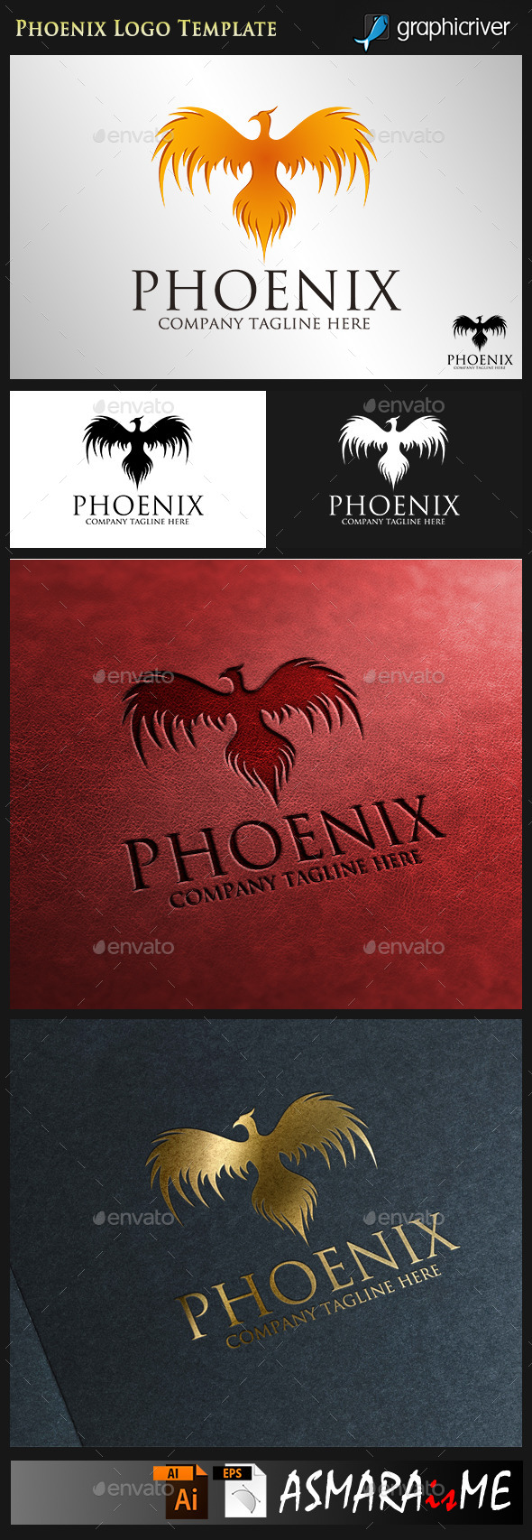 GraphicRiver Phoenix Fire Bird Logo 9101155