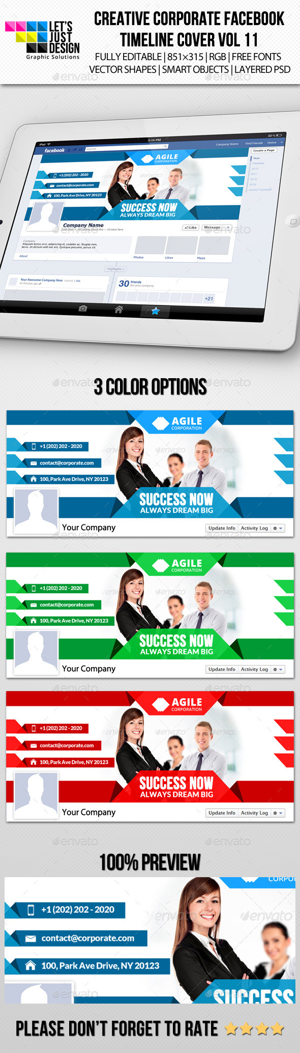 GraphicRiver Creative Corporate Facebook Timeline Cover Vol 11 9146213