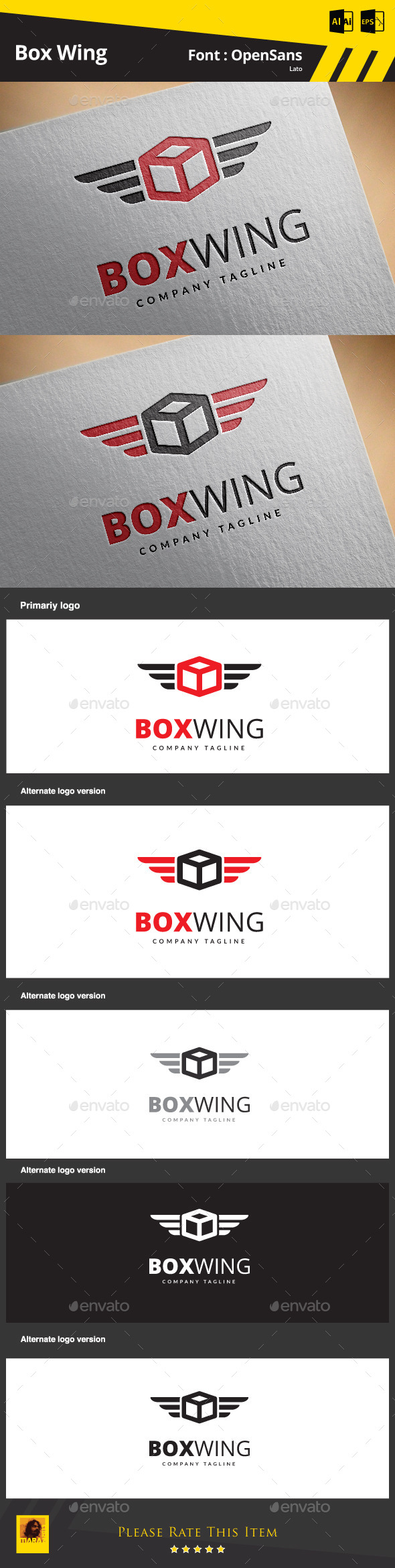GraphicRiver Box Wing 9146228