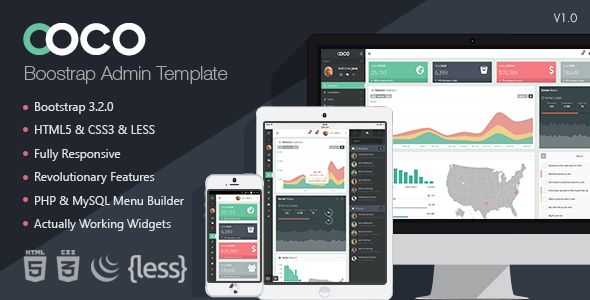 ThemeForest Coco Responsive Bootstrap Admin Template 9110062