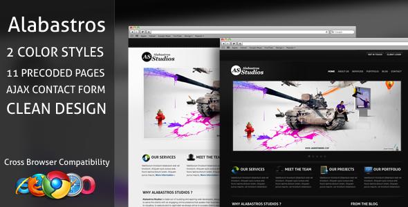 Alabastros Studios xHTML/CSS Theme
