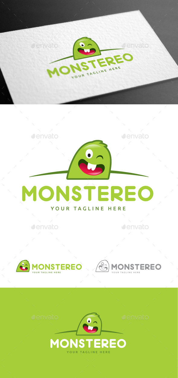 GraphicRiver Monstereo Logo Template 9147273