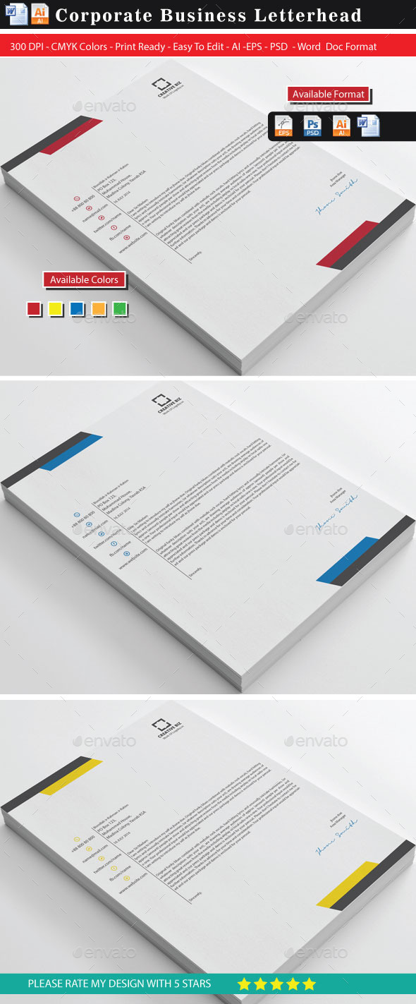 GraphicRiver Corporate2 Business Letterhead 9147313
