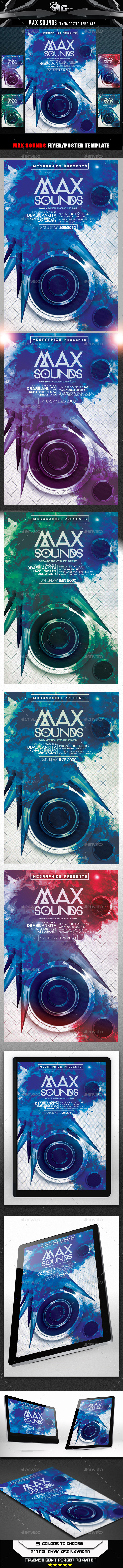 GraphicRiver Max Sounds Flyer Template 9121354