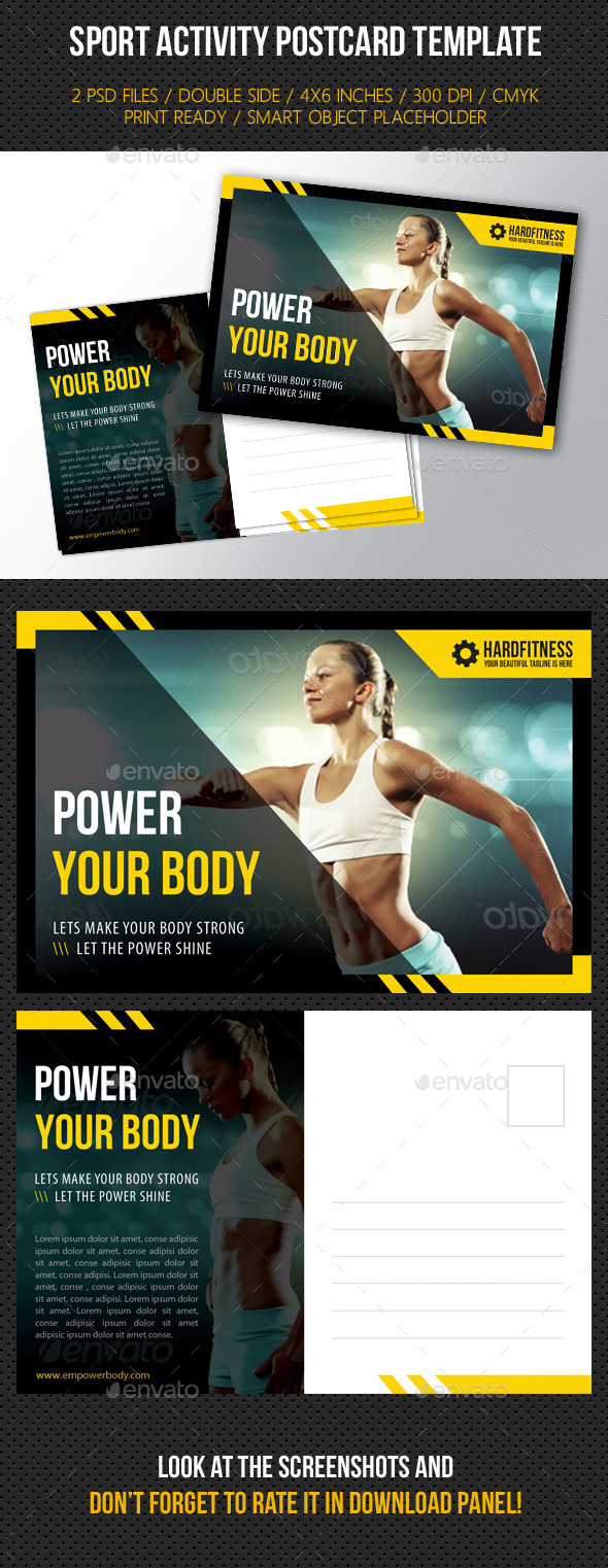 GraphicRiver Sport Activity Postcard Template 9147375