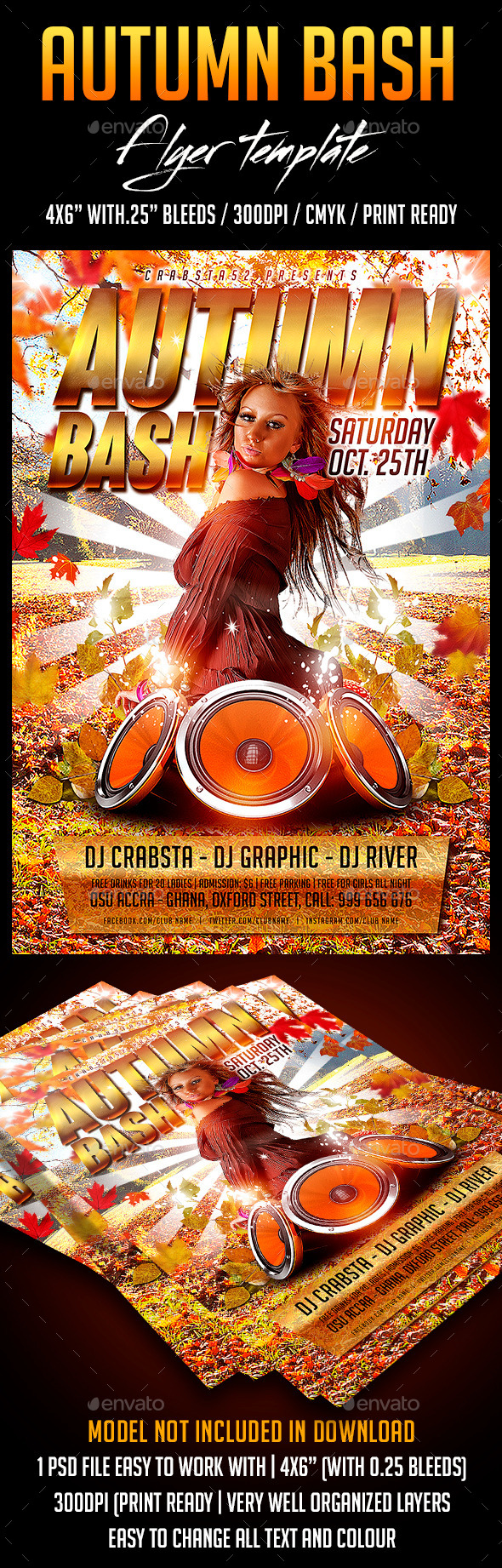 GraphicRiver Autumn Bash Flyer Template 9147620