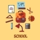 Infographic School Education in Flat Design - GraphicRiver Item for Sale