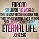 John 3:16 Typographic Church Flyer - GraphicRiver Item for Sale