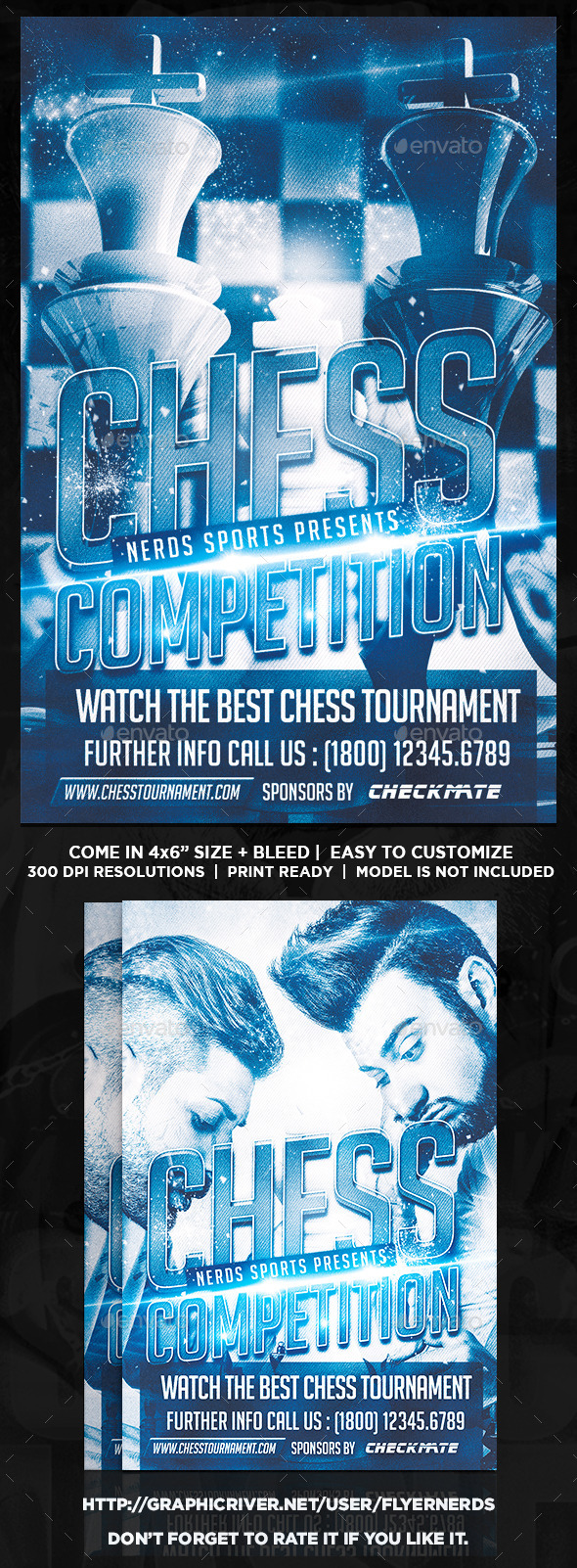 GraphicRiver Chess Competition Flyer 9122594