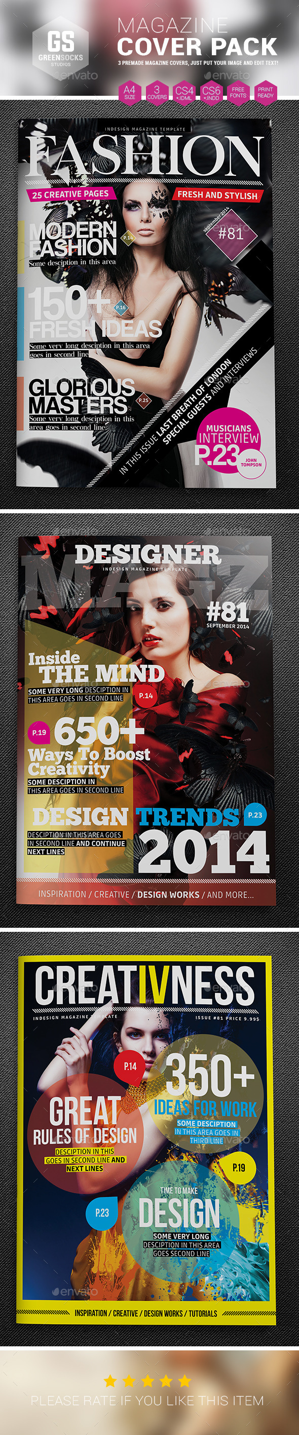 GraphicRiver Magazine Cover Templates 9148038