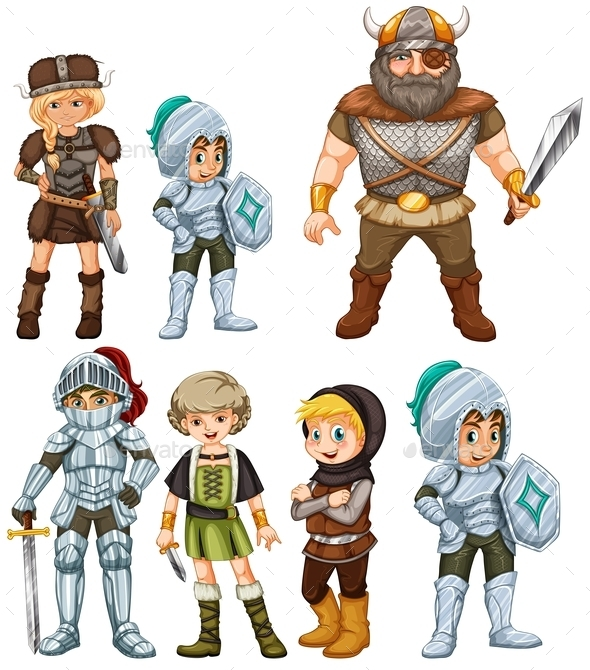 GraphicRiver Knights and Warriors 9148068