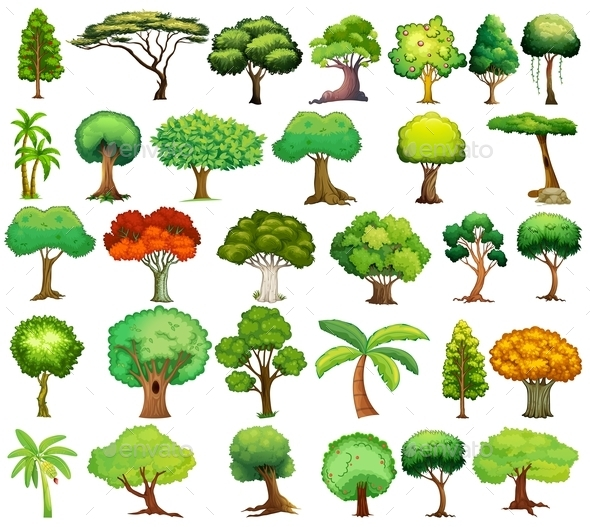 GraphicRiver Set of Trees 9148103