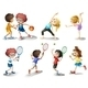 Kids Exercising and Playing Different Sports - GraphicRiver Item for Sale