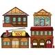 English Pub, Korean Restaurant, Pawnshop and Fire  - GraphicRiver Item for Sale