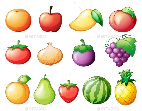 GraphicRiver Different Kinds of Fruits 9148177