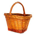 Wicker basket on white background. - PhotoDune Item for Sale