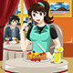 Woman Eating Fruit Pancakes - GraphicRiver Item for Sale