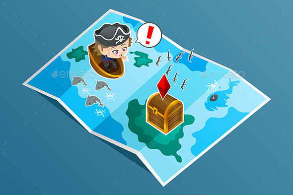 GraphicRiver Kid Searching for Treasure 9148963
