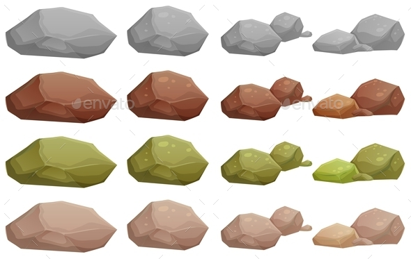 GraphicRiver Different Rocks 9149060
