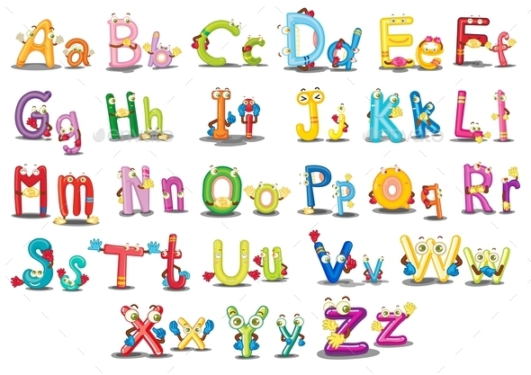 GraphicRiver Alphabet Characters 9149098
