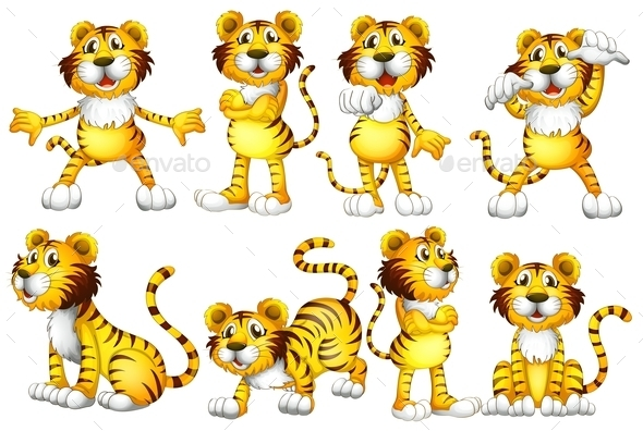 GraphicRiver Tiger Set 9149110