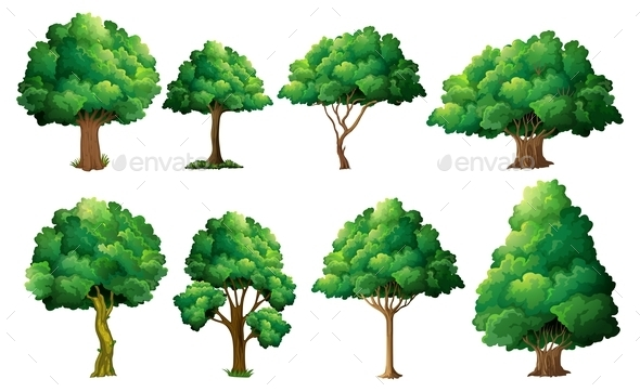 GraphicRiver Tree Set 9149417