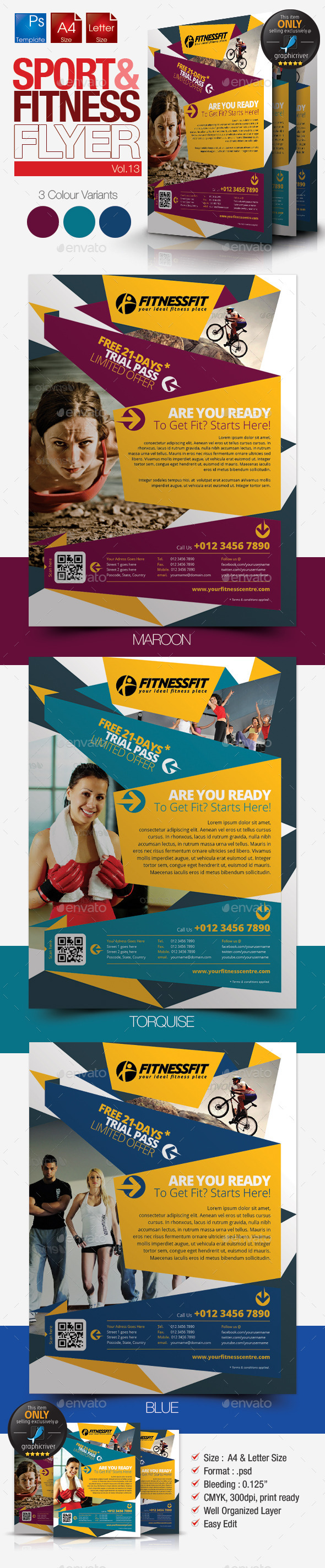 GraphicRiver Fitness Flyer Vol.13 9149448
