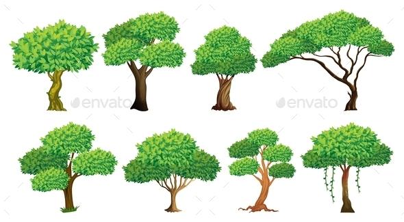 GraphicRiver Tree Set 9149505