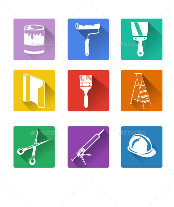GraphicRiver Home Repair Flat Icon 9149720