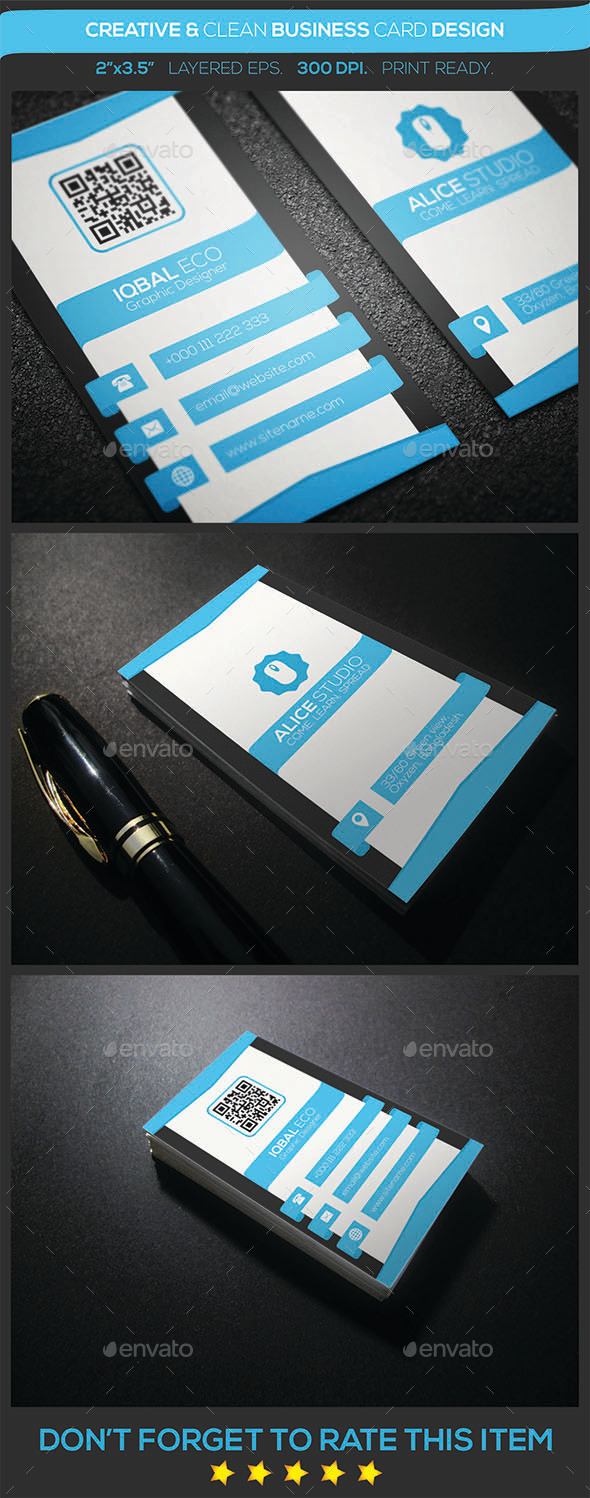 GraphicRiver Creative & Clean Business Card Design 9149861