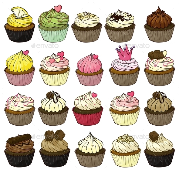 GraphicRiver Cupcakes 9149868