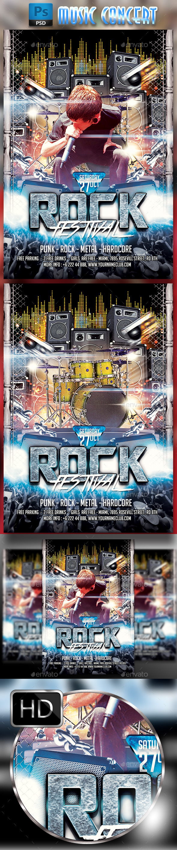 GraphicRiver Rock Flyer 9149894